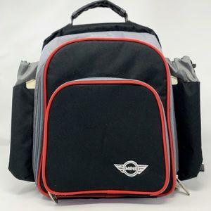 Mini Cooper Insulated Picnic Backpack Black Grey